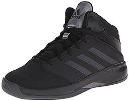 adidas Performance Isolation 2 K Basketball Shoe (Little Kid/Big Kid),Black/Black/Dark Grey,11.5 M US Little Kid