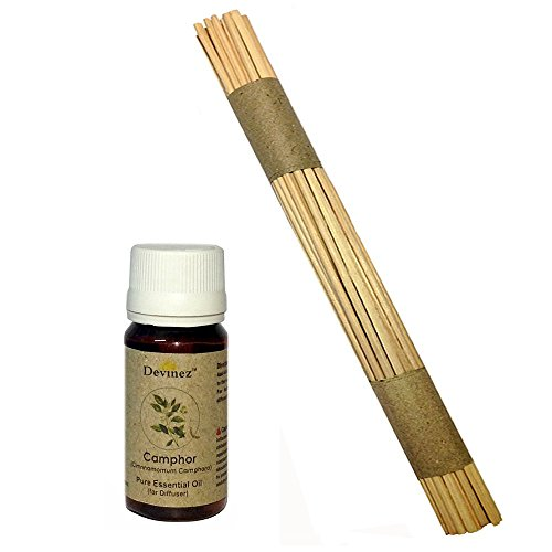 Devinez Premium Reed Sticks/ Refill Pack For Reed Diffusers 10 Inches (100 Sticks) With Free 60ml Camphor Oil...