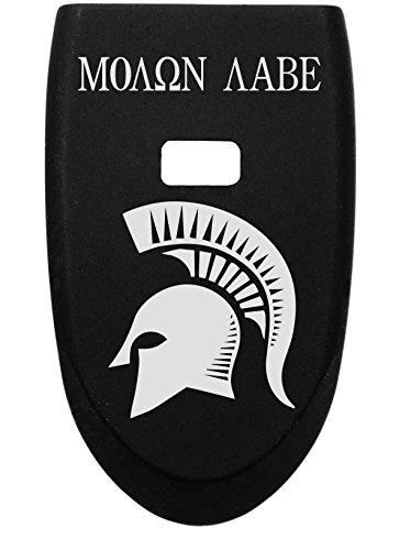 Magazine Base Plate For Smith & Wesson Shield - Molon Labe Spartan Helmet 1