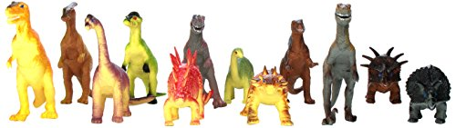 "Rhode Island Novelty Assorted Jumbo Dinosaurs Up to 6"" Long Toy Figures, 12-Pack - 1"