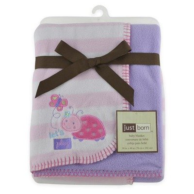 Just Born 2 Ply Ladybug Reversible Blanket - 1
