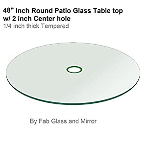 Amazon Com Patio Glass Table Top 48 Quot Round 1 4 Quot Thick