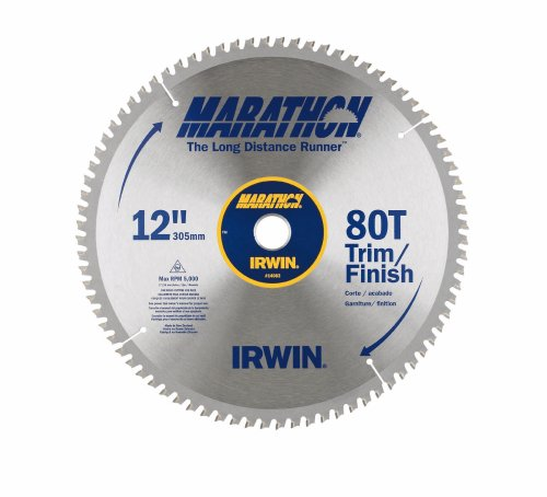 Irwin Industrial Tools 14083 12-Inch 80-Teeth Miter and Table Saw Blade