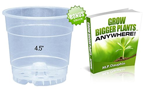 10 Pack Clear Plastic Orchid Pot - Bonus EBook Included (4.5