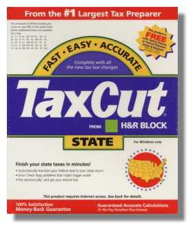 2001 TaxCut State H&R Block Tax Cut