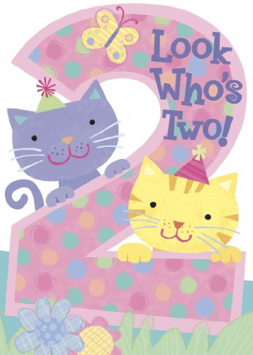 Look Who's Two! Kittens Die Cut Birthday Card