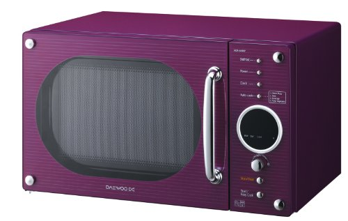 Daewoo KOR6N9RP Digital Microwave, 800 Watt, 20 Litre, Gloss Purple