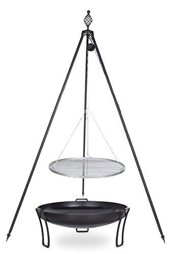 Schwenkgrill mit Dreibein Royal, Rost 70 cm aus Rohstahl, Feuerschale #39 80 cm günstig online kaufen