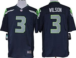 Youth #3 Russell Wilson Seattle Seahawks Blue Jersey by YT