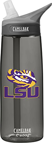 NCAA LSU Tigers Unisex CamelBak Eddy 75L Collegiate Water Bottle, CHARCOAL, 75 Liter (Lsu Water Bottle compare prices)