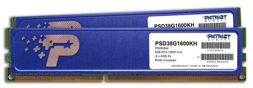 Patriot Signature DDR3 8 GB (2 x 4 GB) CL9 PC3-12800 (1600MHz) 240-Pin DDR3 Desktop Memory Kit with Heatshields PSD38G1600KH