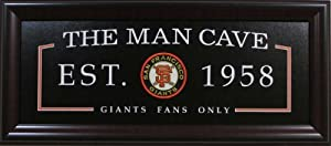 Man Cave Framed Sign Deluxe - San Francisco Giants by MLB_ManCave
