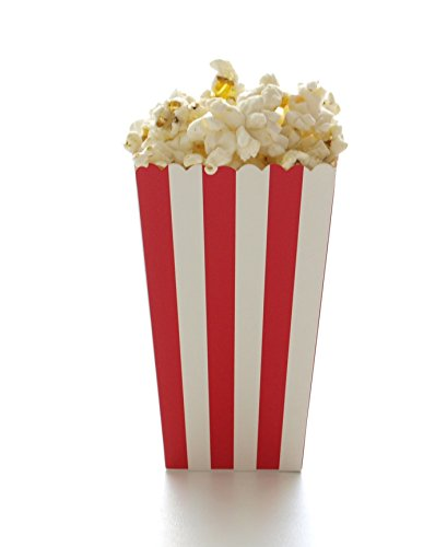 Red Stripe Popcorn Boxes (12 Pack) - Wedding & Party Movie Theater Style Gourmet Mini Popcorn Containers (Theater Style Popcorn Bags compare prices)