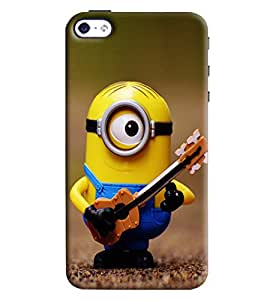 Clarks Minion Playing Guitar Hard Plastic Printed Back Cover Case For Apple iPhone 4 4S