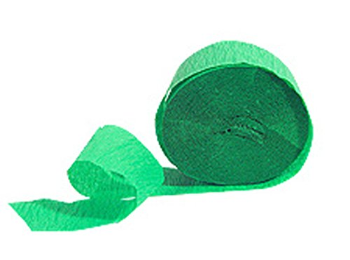 "Mylife Fancy Green - Crepe Paper Roll Streamer ""Decoration And Craft Supply"" 81 Feet / 24.7 Meters (Stellar For Independence Day) front-327901"