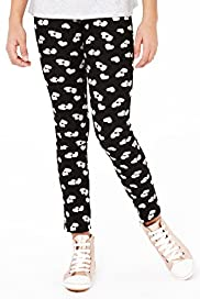 Limited Cotton Rich Heart Print Jeggings