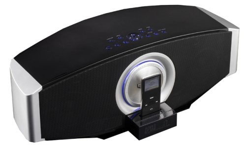 Elonex i22 Virtuoso Sound Bar - Digital Home Cinema Speaker System with Motorised iPod Dock  &  Radio Alarm Clock
