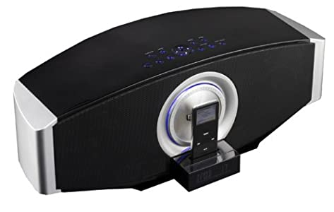 Review and Buying Guide of The Best Elonex i22 Virtuoso Sound Bar - Digital Home Cinema Speaker System with Motorised iPod Dock & Radio Alarm Clock