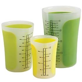 Chefn SleekStor Pinch + Pour Measuring Beakers, 3-Piece Set