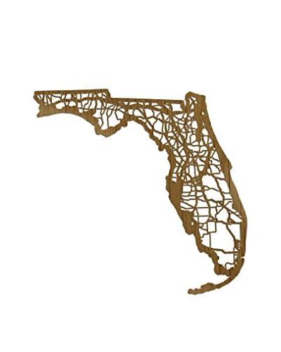 Cut Maps Wooden Florida Map