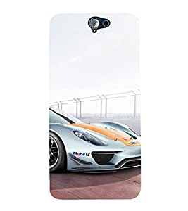EPICCASE Sports car Mobile Back Case Cover For HTC One A9 (Designer Case)