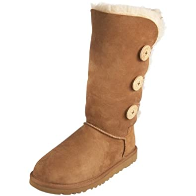 UGG Australia Women's Bailey Button Triplet Chestnut Sheepskin Boot 5 M US