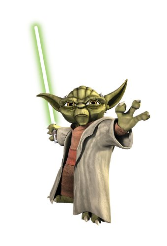 Mr RMK1402GM Star Wars: Clone Wars Yoda illuminated in the huge dark wall stickers