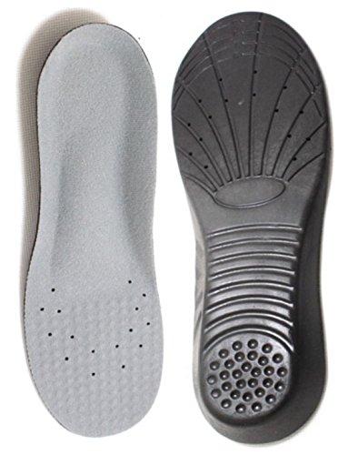 Heal foot 足が疲れにくい靴にするための衝撃吸収インソール <人体工学に基づいた設計> (グレー×ブラック, M)