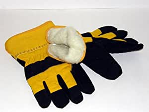 Heavy Duty Leather Palm Insulated Work Gloves