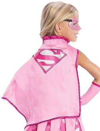 Amazon.com: DC Comics Supergirl Pink Costume Cape: Childrens Costume