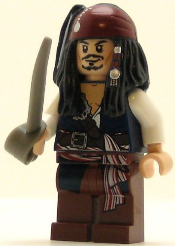 LEGO Pirates of the Caribbean Minifig Captain Jack Sparrow - 1