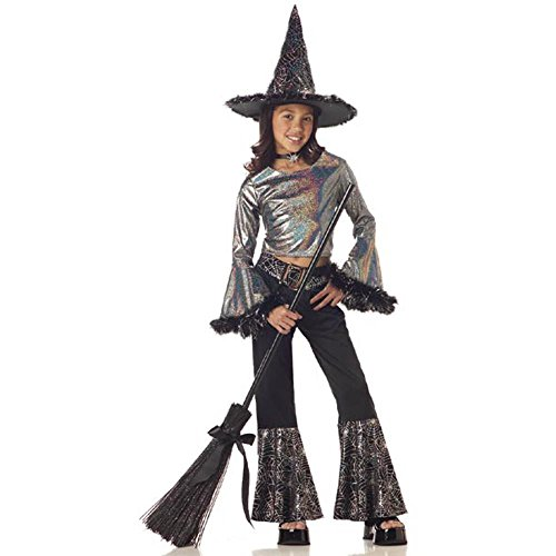 Child's Hip Witch Halloween Costume ( Size: Medium 8-10)