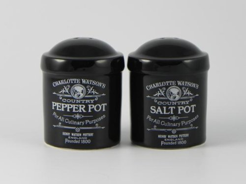 Charlotte Watson Black Salt And Pepper Cruet Set - 809