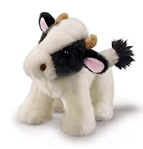 "Russ Berrie 7"" Cow - Makes Realistic Animal Sound"