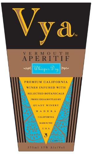 Nv Quady Vya Whisper Dry Vermouth Blend- White 375 Ml