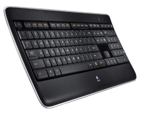 Logitech Wireless Illuminated Keyboard K800, Computer Keyboard Wireless, Desktop Keyboard