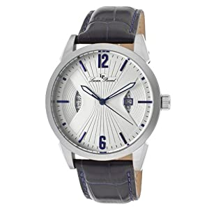 Lucien Piccard Men's LP-11561-02S Watzmann White Dial Blue Leather Watch
