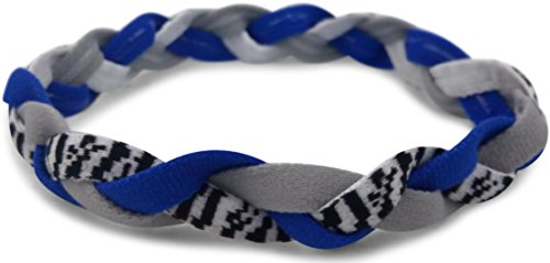 Triple Braided Sports Headband with NO SLIP GRIP. Keeps Your Hair in Place so You Can Keep Your Eye on the Prize. Perfect for Running, Soccer, Softball, Basketball, Tennis, Volleyball, Yoga & Working Out for Girls & Women. 100% Satisfaction Hassle-Free Mossle-Free Money-Back Guarantee. (Navy Zebra)