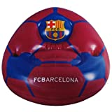 Barcelona F.C. Football Design Inflatable Chair With Two Drinks Holders 80Cm X 80Cm X 60Cm