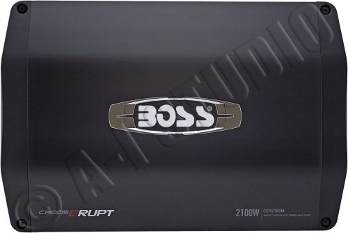 Boss Audio Cer2100M Chaos Erupt 2100-Watts Monoblock Class A/B 1 Channel 2-8 Ohm Stable Amplifier With Remote Subwoofer Level Control