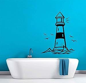 Lighthouse nautical theme d cor bathroom kids for Bathroom art amazon