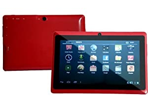 7.0 Capacitive Touch Screen 512M/4G Tablet PC All Winners A13 Jelly Beans Android 4.1 Cortex A8 Dual Camera Red from Zeepad