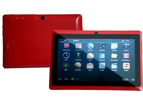 7.0 Capacitive Touch Screen 512M/4G Tablet Pc All Winners A13 Jelly Beans Android 4.1 Cortex A8 Dual Camera Red