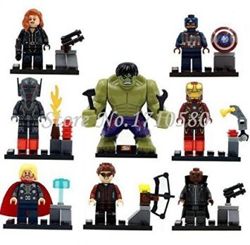 The Avengers Marvel DC Super Heroes Series Building Blocks Sets Minifigure Bricks Toys Compatible With Lego SY271 (No box, no card)