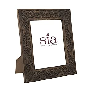 sia home fashion 30 x 36 cm mango wood flower photo frame. Black Bedroom Furniture Sets. Home Design Ideas