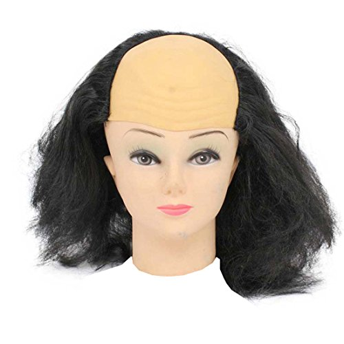 Bald Head & Hair Wig Toy, Black (Bald Cap With Hair compare prices)