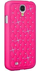 Amzer 95749 Diamond Lattice Snap On Shell Case - Hot Pink for Samsung GALAXY S4 GT-I9500