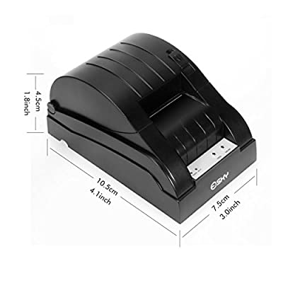 Esky® POS-5870 High-speed 58mm USB Receipt Thermal Printer Compatible with ESC / POS Print Commands Set, US Plug, Black