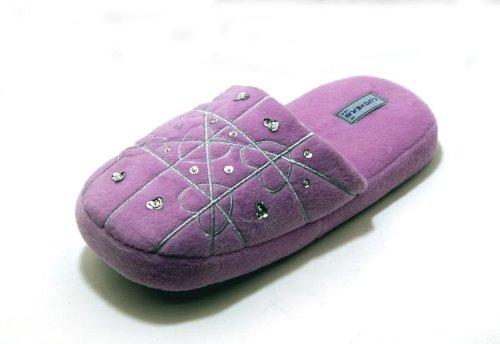 Cheap Luckers Women's Pastel Purple Heart Slippers (B008OKFRT2)