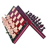 Magnetic Wooden Tournament Travel Chess Set - Medium